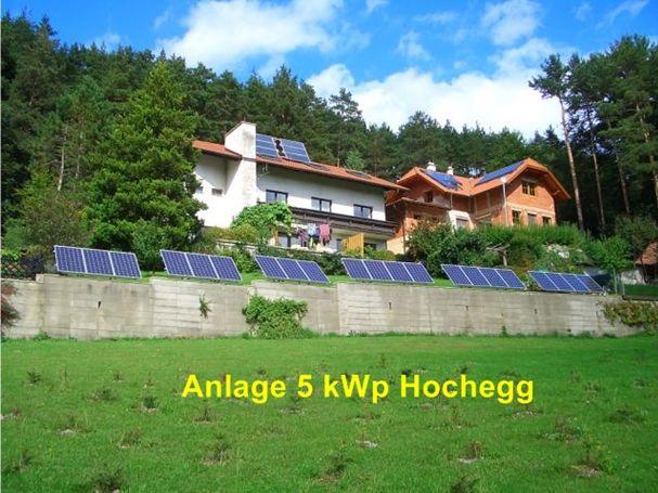 Anlage 5 kWp Hochegg