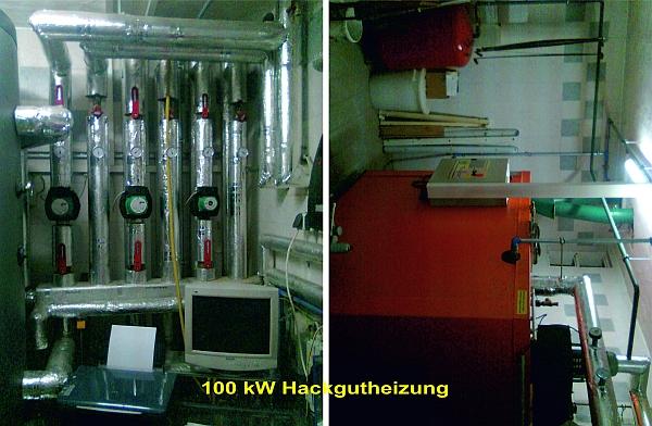 Anlage 100 kWp Hackgutheizung