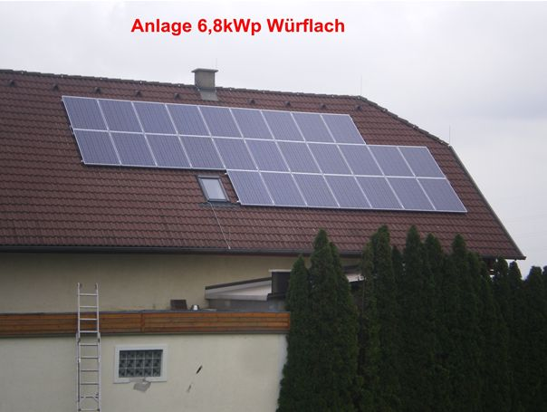 Anlage 6,8 kWp Würflach